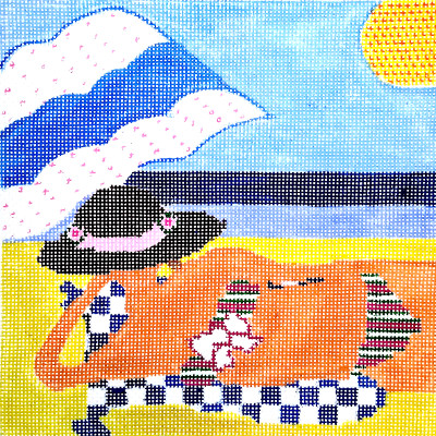 Beach needlepoint
