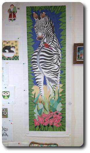 zebra on display