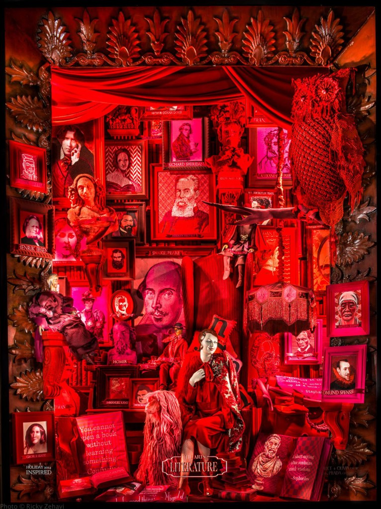 Bergdorf Goodman Needlepoint display window
