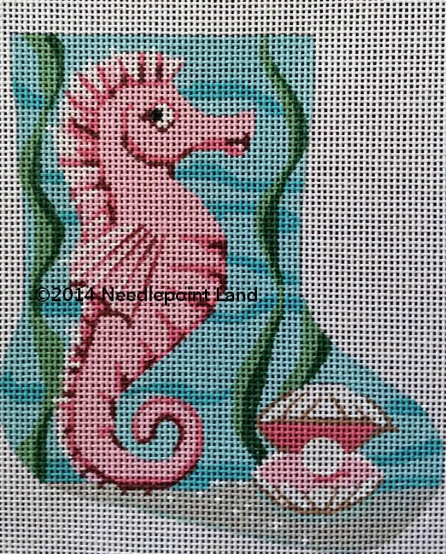 needlepoint seahorse