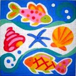 Two fish, starfish