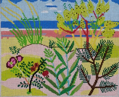 needlepoint beach canvas