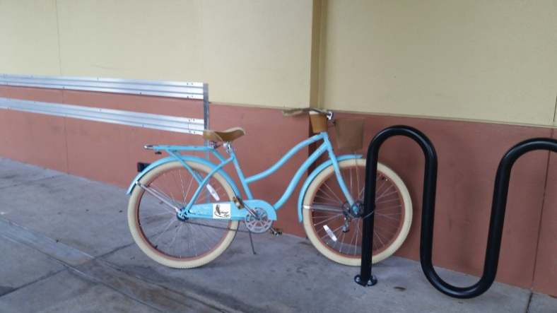 blue-bike with ad