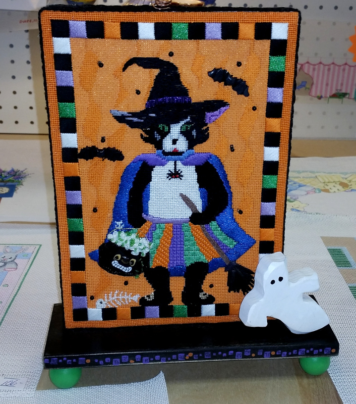 needlepoint halloween finishing