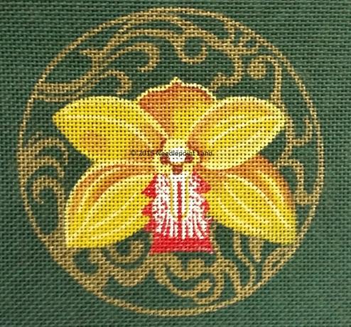 Ormoulu orchid coaster