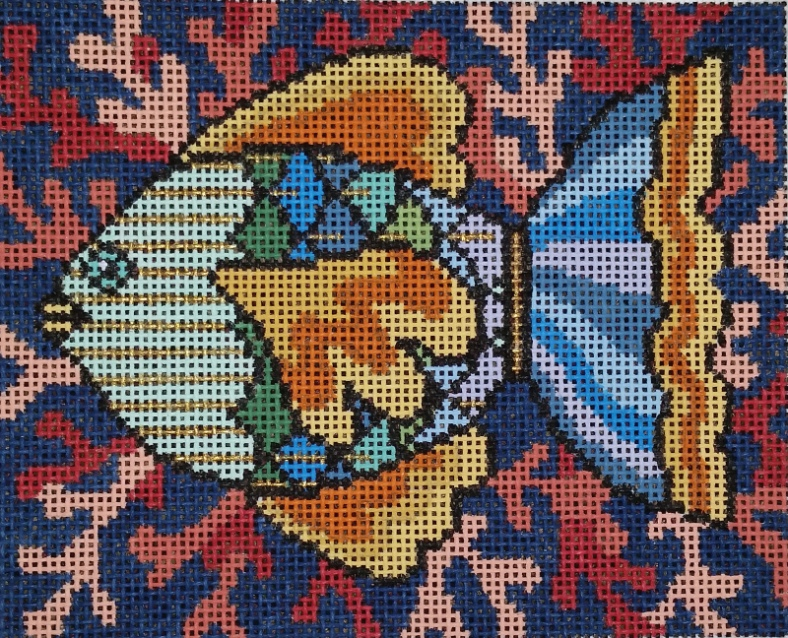 needlepoint canvas fish