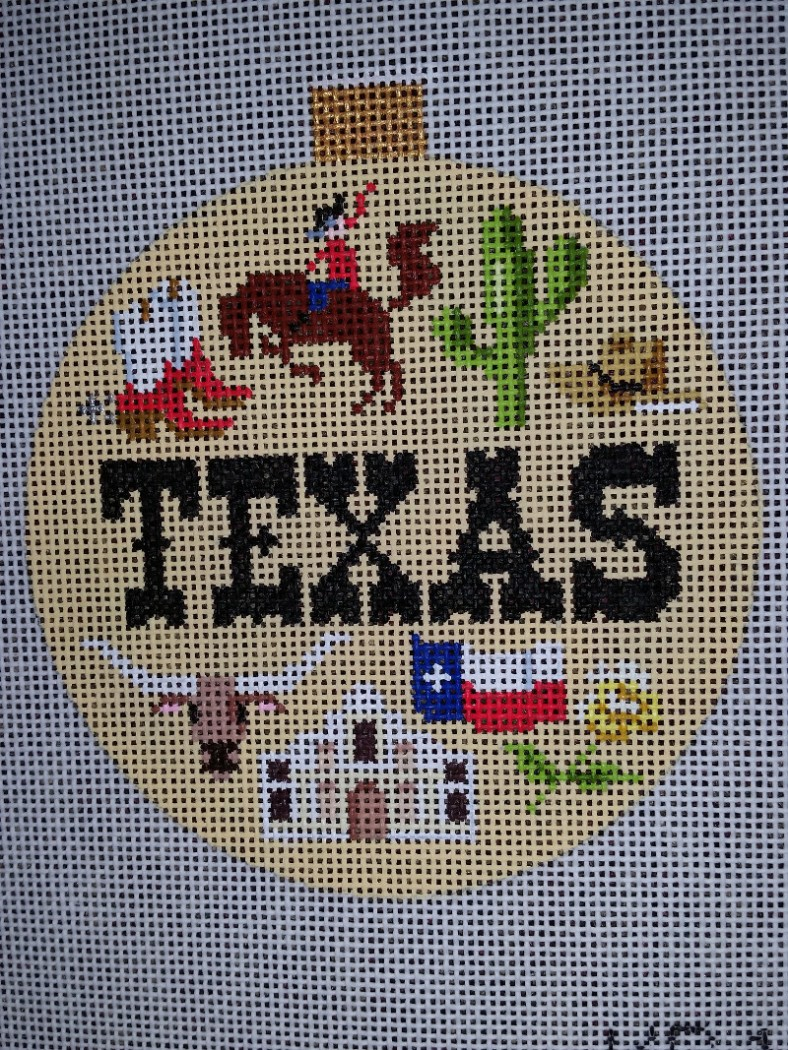 needlepoint canvas texas