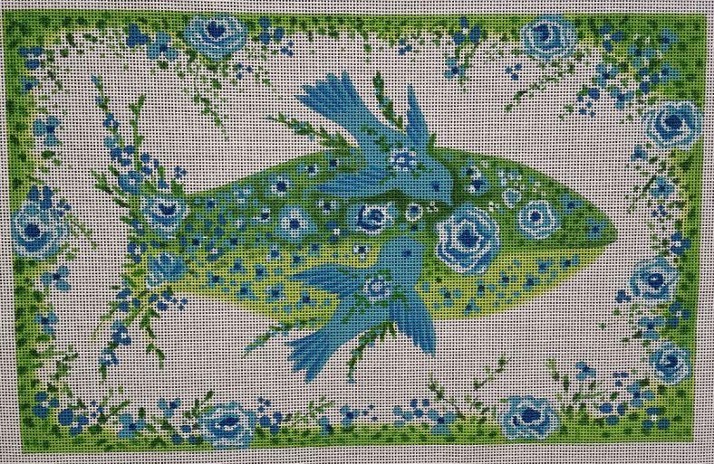 Blue Fish Floral