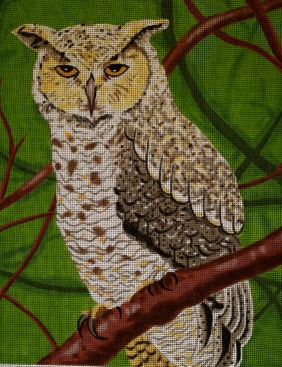 needlepoint owl