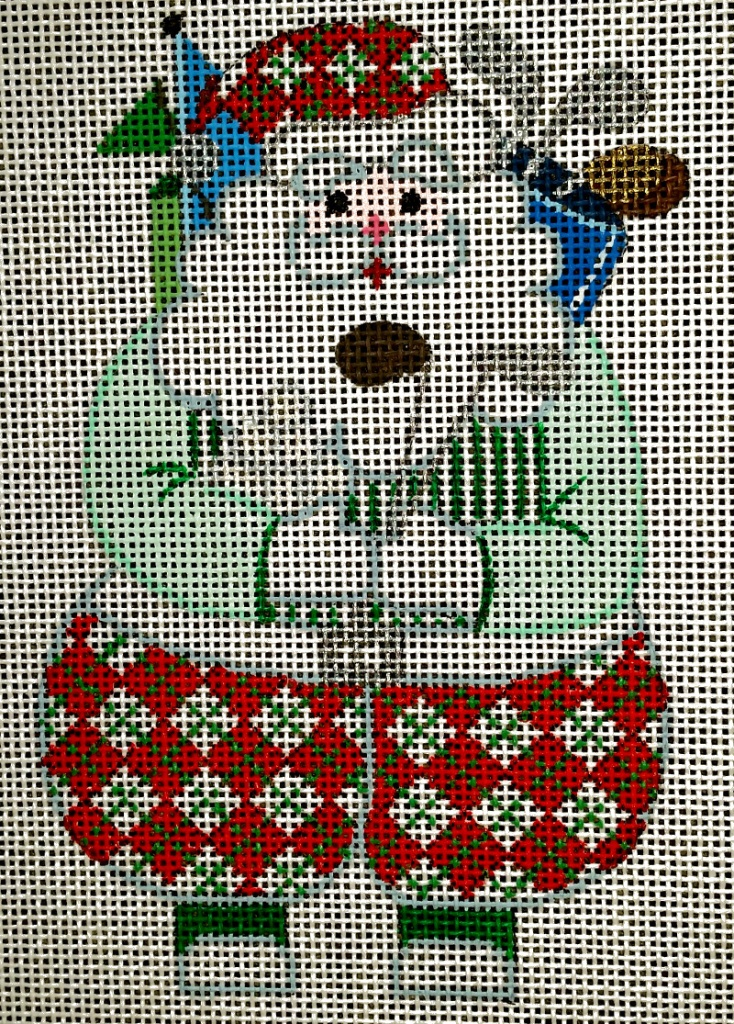 needlepoint santa golf