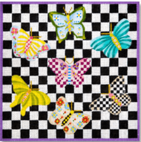 needlepoint butterflies