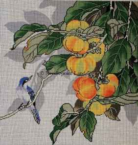 needlepoint bluebird