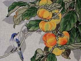 needlepoint bluebird