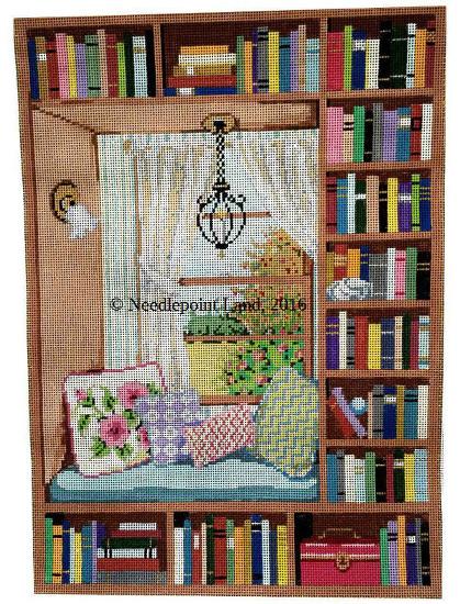 needlepoint bookcase